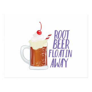 Root Beer Floatin Postcard