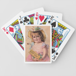 Root Beer Girl Playing Cards