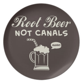 Root Beer Not Canals Dinner Plate