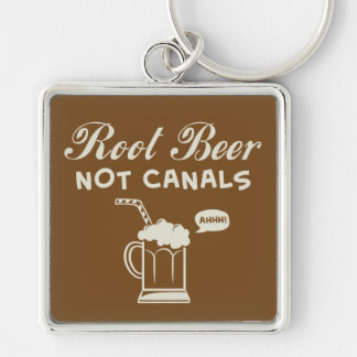 Root Beer Not Canals Keychain