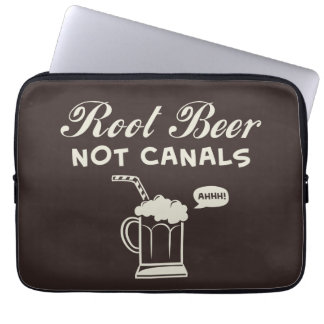 Root Beer Not Canals Laptop Sleeve