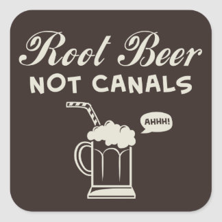 Root Beer Not Canals Square Sticker