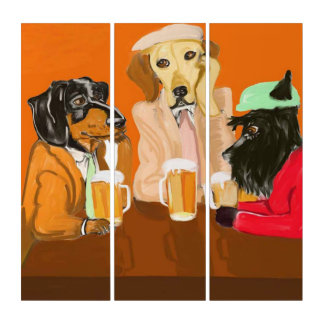Root Beer Pals Triptych