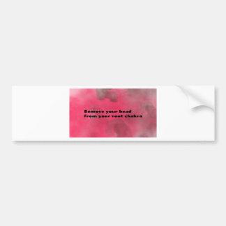 Root Chakra Bumper Sticker
