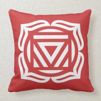 Root Chakra Energy Throw Pillow