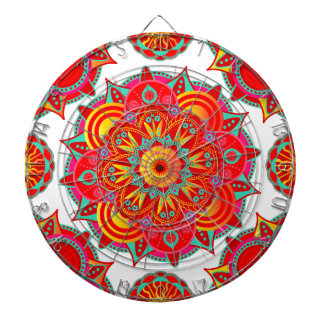Root Chakra Mandala Dartboard With Darts