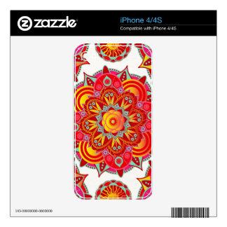 Root Chakra Mandala Skin For iPhone 4S