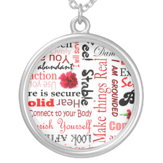Root Chakra Positive affirmation Typography neckla Personalized Necklace
