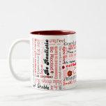 Root Chakra Positive Affirmations Typography Mug