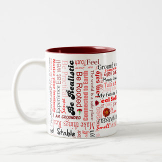 Root Chakra Positive Affirmations Typography Mug