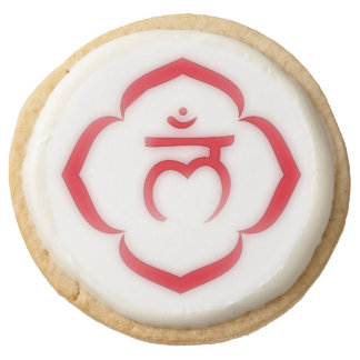 Root Chakra Symbol Round Shortbread Cookie