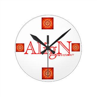 Root Chakra Wall Clock-by AligN Round Clock