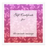 Root & Crown Chakra Scrolls Gift Certificate Personalized Announcement