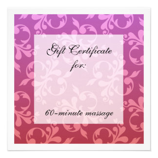 Root Crown Chakra Scrolls Gift Certificate Personalized Announcement