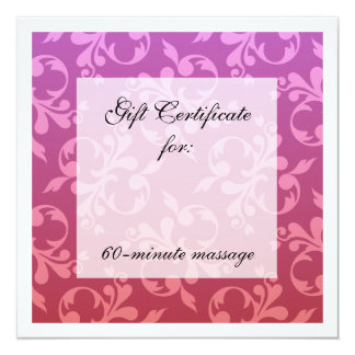 Root & Crown Chakra Scrolls Gift Certificate 5.25x5.25 Square Paper Invitation Card