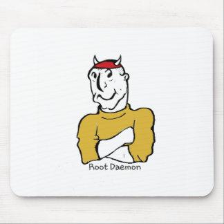 Root Daemon Devil Mouse Pad