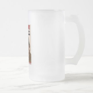 root_for_us 16 oz frosted glass beer mug