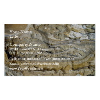 Root fossils in limestone seawall business card templates