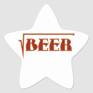 root more beer star sticker