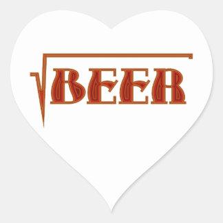 root more beer heart sticker