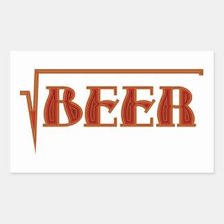 root more beer rectangular stickers