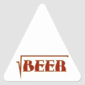 root more beer triangle sticker