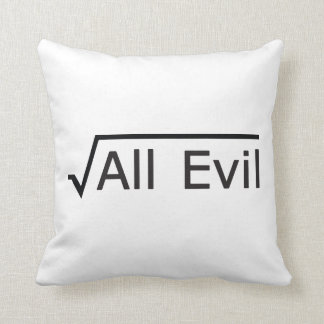 Root of All Evil - Math Humor / Math Geek Throw Pillow