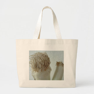 Root of Leek, Vegetables, Healthy Raw White Food Large Tote Bag