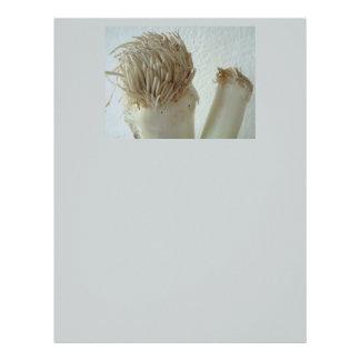 Root of Leek, Vegetables, Healthy Raw White Food Letterhead