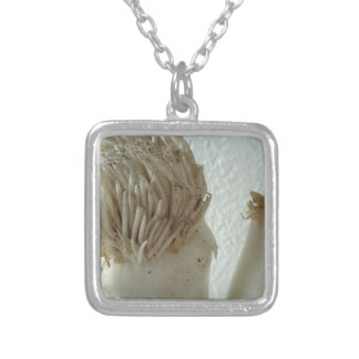 Root of Leek, Vegetables, Healthy Raw White Food Square Pendant Necklace