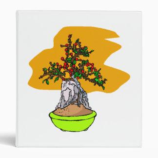 Root Over Rock Berry Bonsai Graphic Image Vinyl Binder
