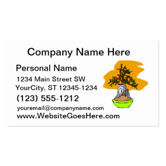 Root Over Rock Berry Bonsai Graphic Image Business Card
