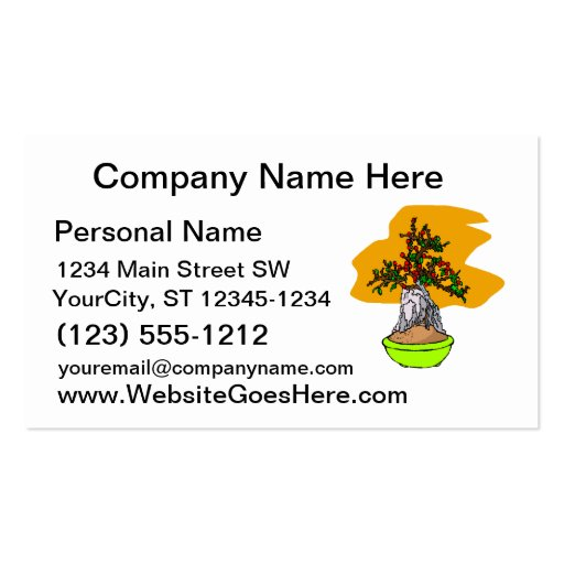 Root Over Rock Berry Bonsai Graphic Image Double-Sided Standard Business Cards (Pack Of 100)