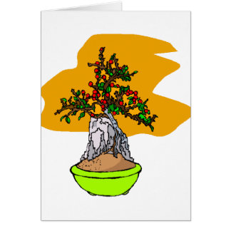 Root Over Rock Berry Bonsai Graphic Image Greeting Cards