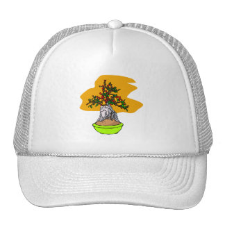Root Over Rock Berry Bonsai Graphic Image Mesh Hat