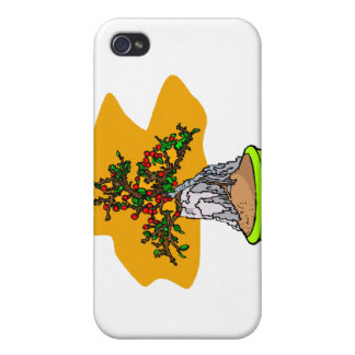 Root Over Rock Berry Bonsai Graphic Image iPhone 4/4S Cover