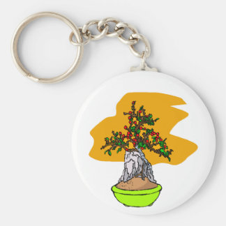 Root Over Rock Berry Bonsai Graphic Image Key Chains
