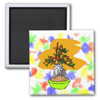 Root Over Rock Berry Bonsai Graphic Image Refrigerator Magnets