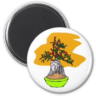 Root Over Rock Berry Bonsai Graphic Image Fridge Magnets