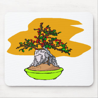 Root Over Rock Berry Bonsai Graphic Image Mousepads