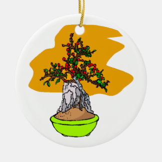 Root Over Rock Berry Bonsai Graphic Image Christmas Ornament