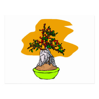 Root Over Rock Berry Bonsai Graphic Image Post Cards
