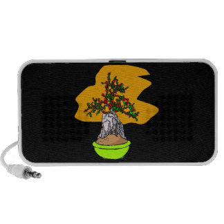 Root Over Rock Berry Bonsai Graphic Image Portable Speaker
