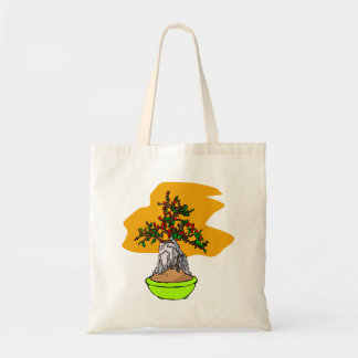 Root Over Rock Berry Bonsai Graphic Image Tote Bag
