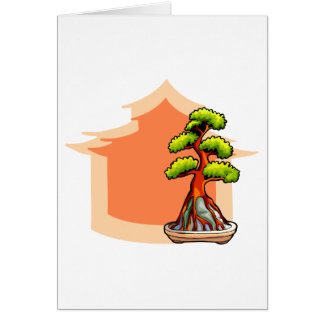 Root over Rock Bonsai Graphic with house 1 Card