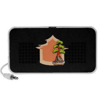 Root over Rock Bonsai Graphic with house 1 Travel Speaker