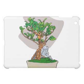Root Over Rock Bonsai Grey Back Graphic Image iPad Mini Cases