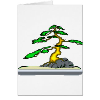 Root Over Rock Bonsai Old in Grey Tray Card
