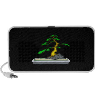 Root Over Rock Bonsai Old in Grey Tray Mini Speakers