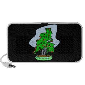 Root Over Rock Flowering Bonsai iPod Speaker